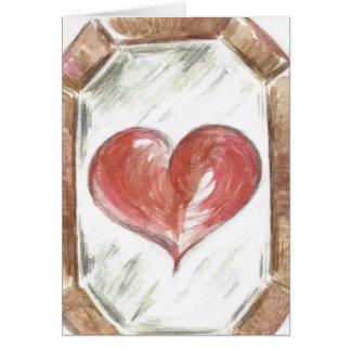 Los ojos que reflejan el corazón tarjeta de felicitación