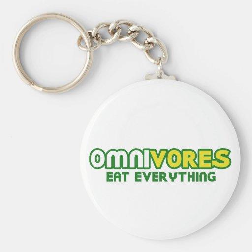 Los omnívoros comen todo parodia llaveros personalizados