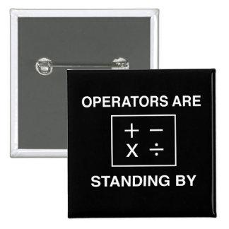 Los operadores están haciendo una pausa chapa cuadrada