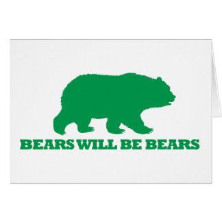 Los osos serán osos tarjetas