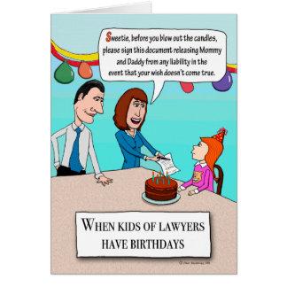 Los padres divertidos son cumpleaños de los tarjeta de felicitación
