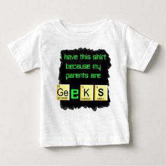 los padres son camisa del bebé de los frikis