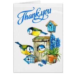 Los pájaros azules lindos de la felicidad le tarjeta de felicitación