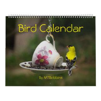Los pájaros hacen calendarios con grandes números