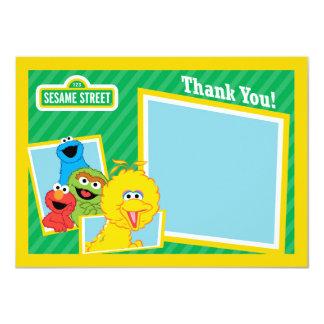 Los Pals del Sesame Street le agradecen Invitación 11,4 X 15,8 Cm