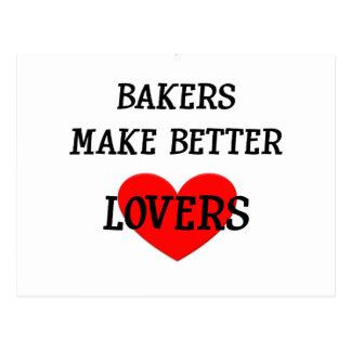 Los panaderos hacen a mejores amantes postal