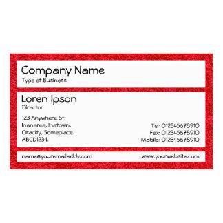 Los paneles - alfombra roja tarjetas de visita