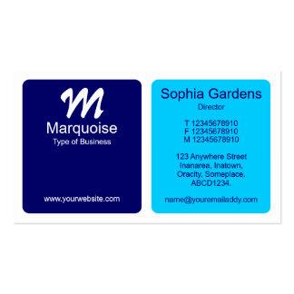Los paneles - azul marino, azules claros y blancos tarjetas de visita