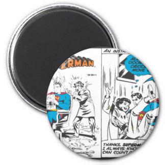 Los paneles cómicos 2 del superhombre imán redondo 5 cm