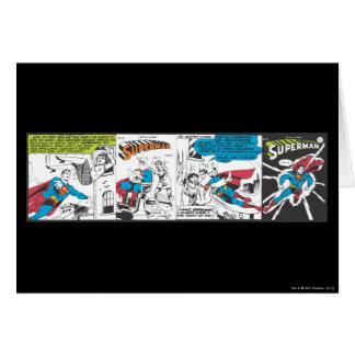 Los paneles cómicos 2 del superhombre tarjeta de felicitación