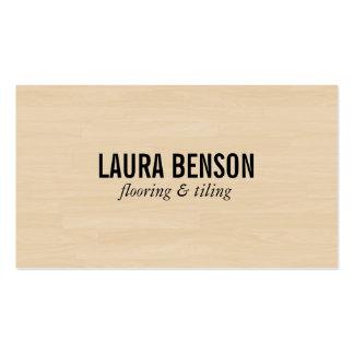 Los paneles de madera (impresión) tarjetas de visita