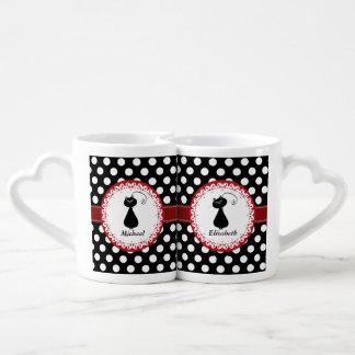 Los pares caprichosos divertidos de moda del amor set de tazas de café