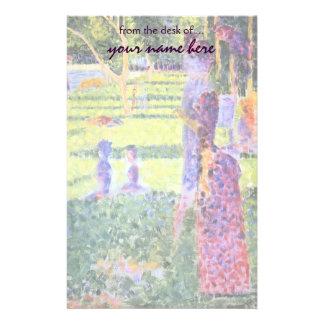 Los pares de Jorte Seurat, Pointillism del vintage Papeleria De Diseño