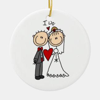 Los pares del boda hago las camisetas y los regalo ornatos