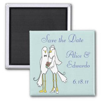 Los pares del recién casado ahorran la fecha iman