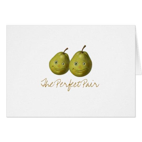 Los pares perfectos tarjeta de felicitación