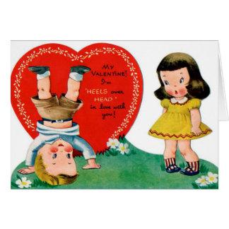 Tarjeta Los pares retros de la tarjeta del día de San
