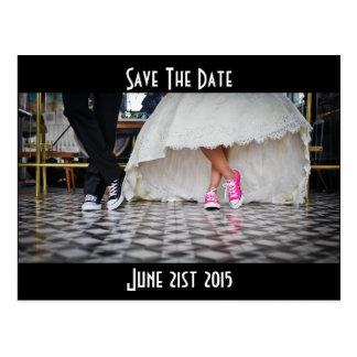 Los pares retros del boda del comensal del estilo postal
