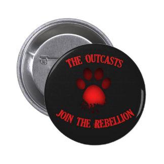 Los parias - únase a la rebelión chapa redonda de 5 cm