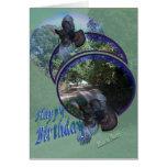 Los pavos salvajes adentro vuelo-personalizan tarjeta de felicitación