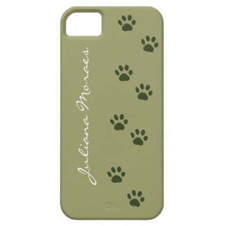 los pawprints del gato del perro de mascotas iPhone 5 Case-Mate coberturas