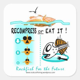 Los pegatinas de la pesca de la escorpina, pegatina cuadradas personalizada