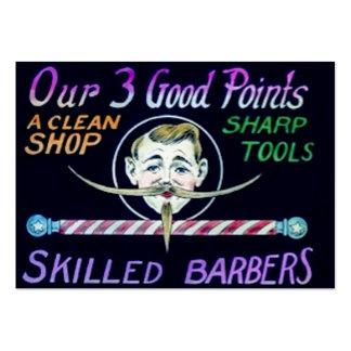 Los peluqueros expertos de la peluquería de tarjetas de visita grandes
