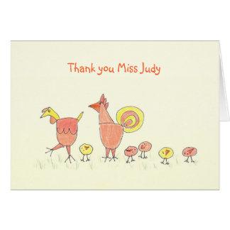 Los pequeños polluelos, trabajador del cuidado de tarjeta
