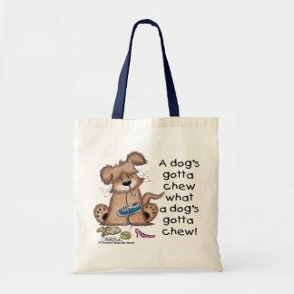 Los perros consiguieron masticar bolsas lienzo