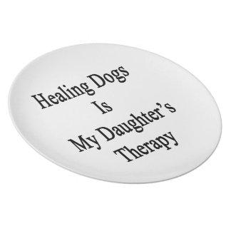 Los perros curativos son la terapia de mi hija