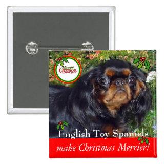 Los perros de aguas de juguete inglés hacen chapa cuadrada 5 cm