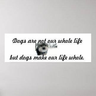 Los perros hacen vida entera poster