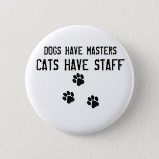 Los perros tienen gatos de los amos tener botón