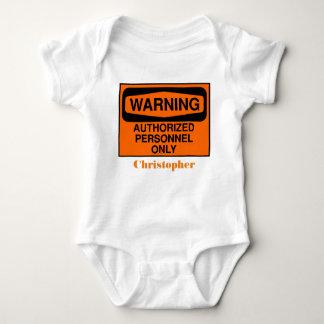 Los personales autorizados divertidos firman body para bebé