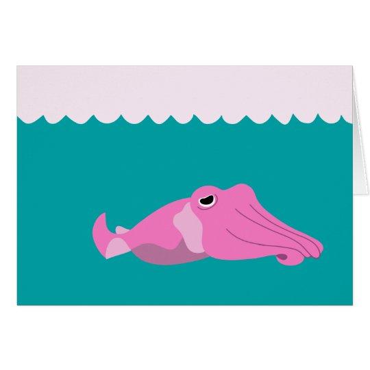 Los pescados de la sepia tarjeta de felicitación