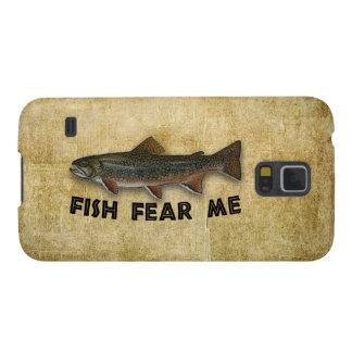 Los pescados me temen pesca divertida funda para galaxy s5