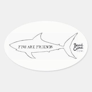 Los pescados son pegatina del amigo