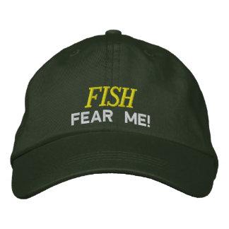 Los pescados temen que bordara el gorra gorra de beisbol bordada