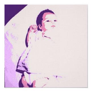 Los pies del bebé/recién nacido/el niño invita invitación 13,3 cm x 13,3cm