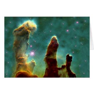 Los pilares de Eagle de la creación Tarjeta De Felicitación