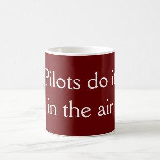 Los pilotos lo hacen taza básica blanca