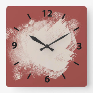 Los pintores broncean ocre rojo reloj cuadrado