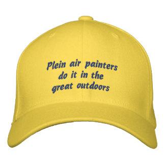 Los pintores del aire de Plein lo hacen en el Gorra Bordada