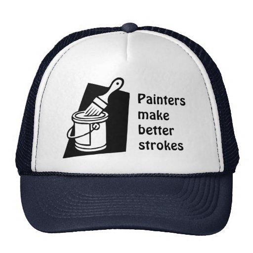 los pintores hacen mejores movimientos el gorra de