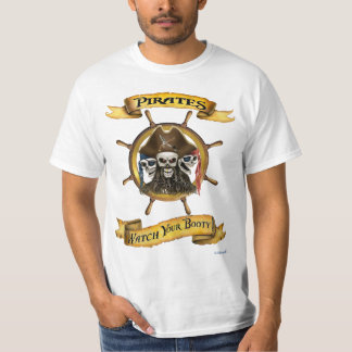 ¡Los piratas miran su botín! Camiseta