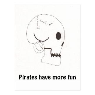 Los piratas se divierten más postal