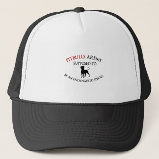 Los pitbulls diseñan lindo gorra de camionero