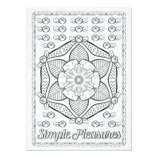 Los placeres simples de los OrnaMENTALs colorean Invitación 13,9 X 19,0 Cm