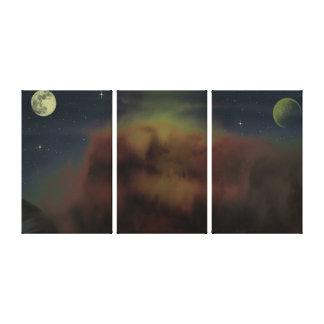 Los planetas y las estrellas envolvieron la lona lona envuelta para galerías