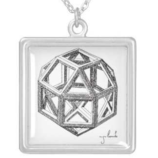 Los poliedros de Leonardo Collar Plateado